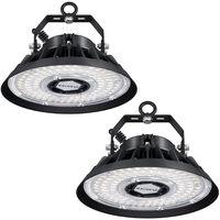 100W Lámpara LED de Alta Bahía Industrial, 14000Lm LED Industrial Luz Iluminación para Almacén Comercial (IP65, 4500K)