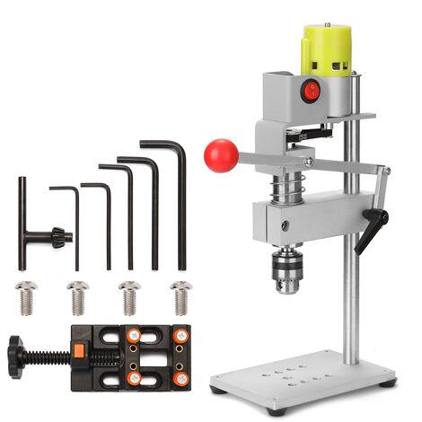 100W Micro Mini banco taladro de perforacion de la maquina fresadora Hogar multifuncional taladro electrico del bricolaje precisa perforadora, unica maquina