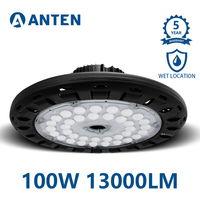 100W UFO LED Industrial Luz, 13000Lm Lámpara LED de Alta Bahía Iluminación para Almacén Comercial (IP65, 4500K)