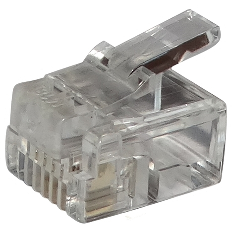 100x connecteur fiche RJ11 4pin 6p4c