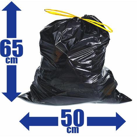 100x Müllsäcke 30L Zugband Extra Reißfest Stark Abfallsäcke Zugbandsack Müllsack