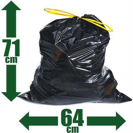 100x Müllsäcke 60l Zugband Extra Reißfest Stark Abfallsäcke Zugbandsack Müllsack