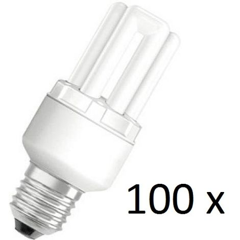 100x Osram Dulux Star Superstar 8W/825 220-240V E27 Stick Lamp Light Bulb