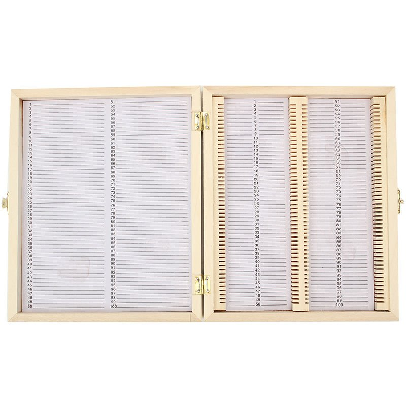 Image of 100X The Wooden Microscope Slides The Bo??Te Bo De Metal??Medical Storage Hasaki - KINGSO
