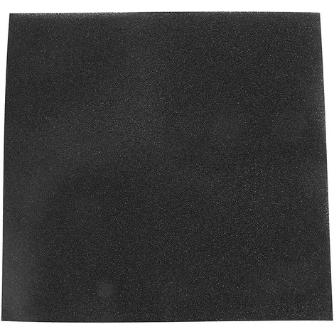 100x100x2cm Black Aquarium Fish Tank Organic Cotton Filter Foam Sponge Pad Macropore Hasaki