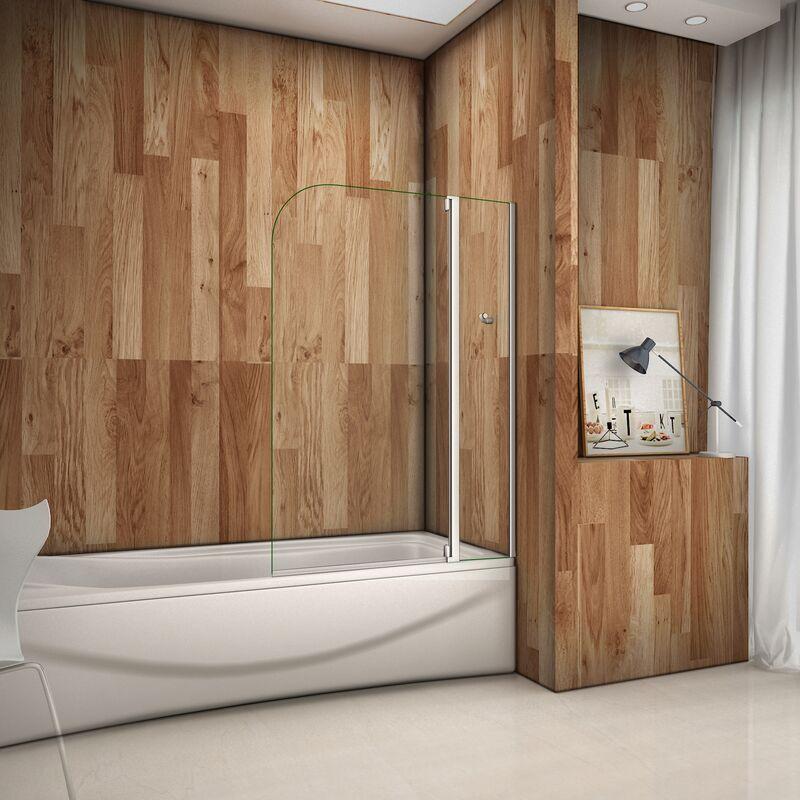 100x140cm box doccia sopravasca parete da vasca cristallo temperato aperta verso interno e - Siliconare box doccia interno o esterno ...