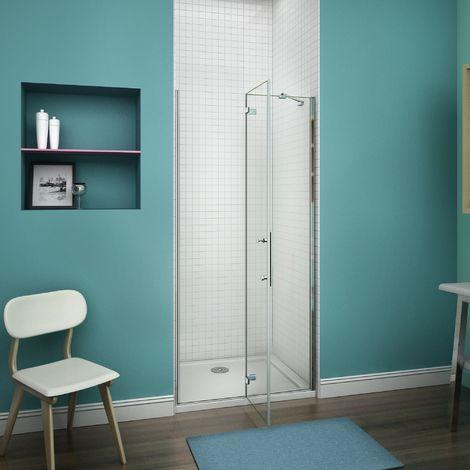 100x195cm, paroi de douche battante, cabine de douche à charnière, porte de douche pivotante , installation en niche,Vitrification NANO,anticalcaire