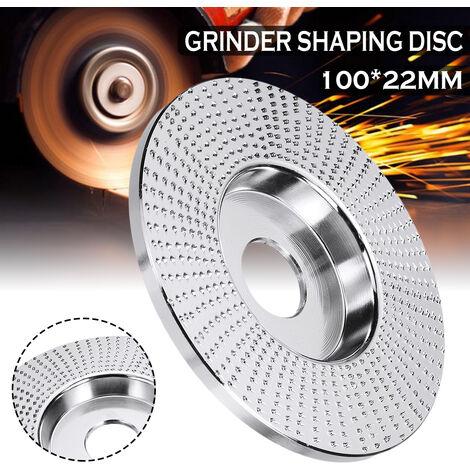 100x22mm forme plate meule en bois disque rotatif pon?age outil de sculpture sur bois outils de disque abrasif pour meuleuse d'angle