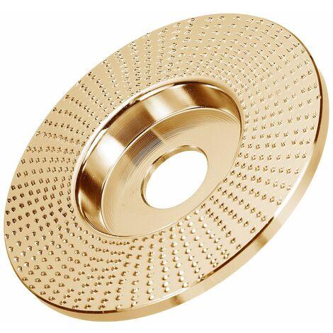 100x22mm meule en bois plat disque rotatif pon?age outil de sculpture sur bois outils à disque abrasif pour meuleuse d'angle 2 couleurs