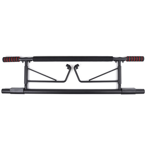 100x25.5cm Chin Up Pull Up Bar Doorway Heavy Duty Exercise Fitness Workout Strength Trainer Black