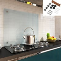 100x50CM Panneau arrière de la cuisine en verre dépoli Pare-éclaboussures Motif cuisine Protection murale