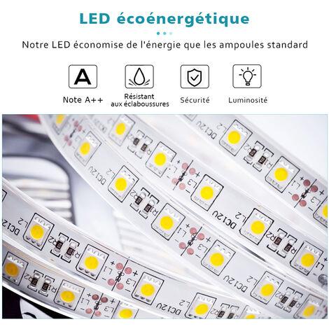 100x70cm Miroir de salle de bains avec éclairage LED 37W Miroir Cosmétiques Mural Lumière Illumination avec interrupteur infrarouge ELEGANT