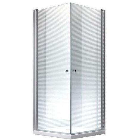 100x90x195cm Cabine de douche Zeus - sans bac de douche