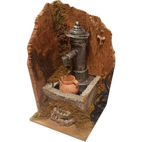 Fontana Per Il Presepe.10228 Fontana Con Pompa Per Presepe 15x16x10 Natale Tipo Nasone