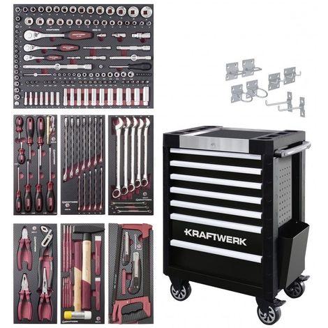 102.400.516. Servante d'atelier TRIO COMPLETO EVA3 189 outils KRAFTWERK 1451.79