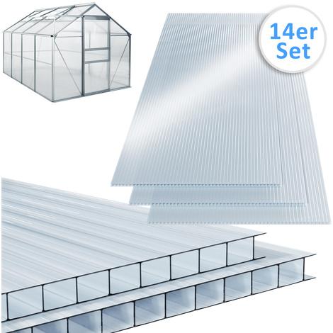 10,25 m² Plaque de polycarbonate creux / Plaques à double paroi, 4mm d''épaisseur