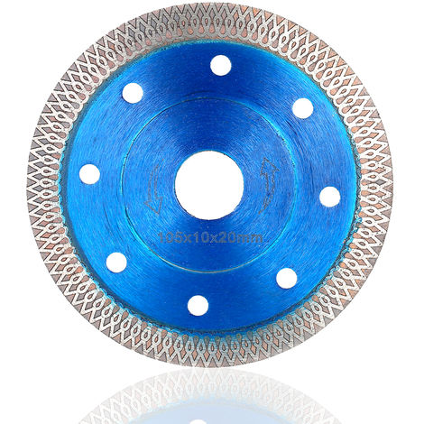 "105 mm 4"" Diamond corrugado hoja de sierra, 22 mm Diametro, Azul"