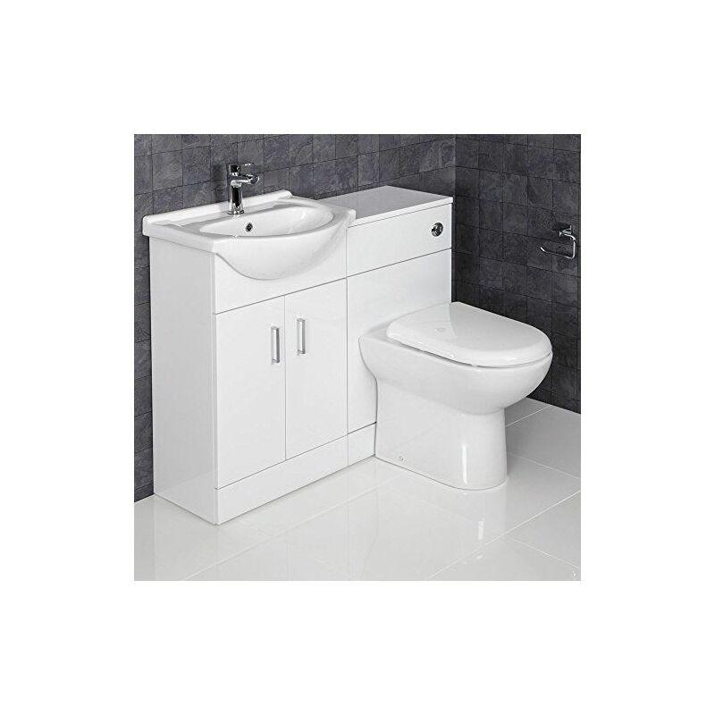 1050mm toilet and bathroom vanity unit combined basin sink