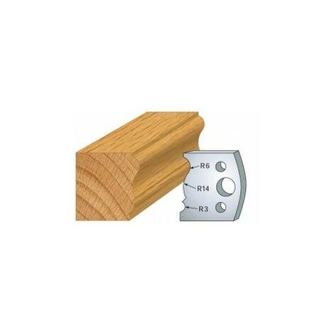 106 : jeu de 2 fers 40 mm moulure plinthe pour porte outils 40 et 50 mm