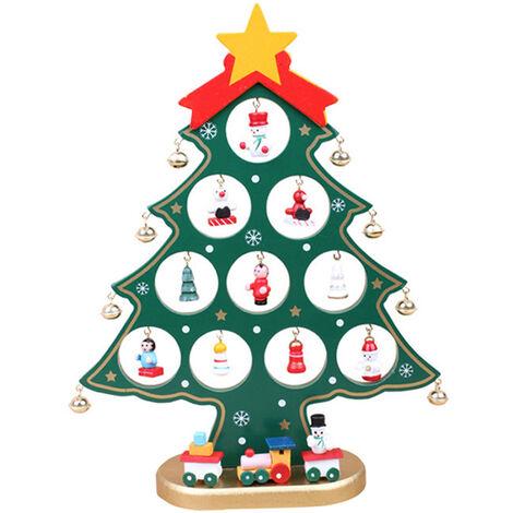 10,62 pulgadas en decoraciones de Navidad que cuelga de arbol de Noel Con ornamentos de madera fuera de la Florida en arbol Para Interior Exterior Terraza Fiesta posterior Corte de la decoracion, blanca