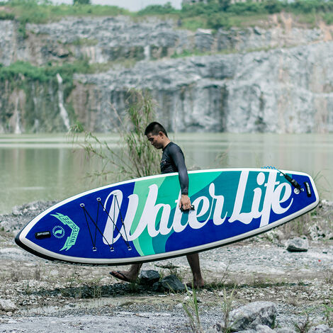 10.6*33*6 pouces Planche de surf 6 pouces 15-18 PSI Charge maximale 105 kg Sports nautiques SUP Board Stand Up Paddle-1