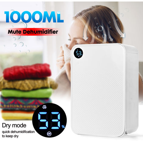 1080Ml / Day Xiaomi 220V 90W Domestic Mute Dehumidifier 1L Moisture Drying Machine 3 Modes Hasaki