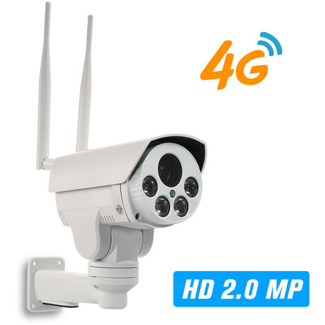 1080P 4G Sans Fil Camera Ip 2,8-12Mm Mise Au Point Automatique Objectif Ptz Camera Reseau Ir-Cut Night Vision 3G Gsm Exterieur Cctv Camera Etanche Surveillance Video Onvif Cameras Ip Carte Tf Et Emplacement Pour Carte Sim