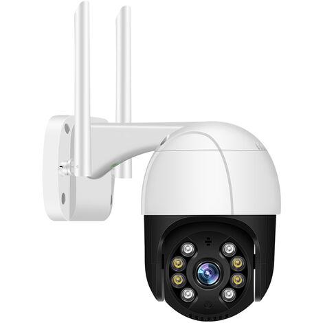1080P al aire libre PTZ de camaras de seguridad al aire libre 2MP camara resistente al agua Wi-Fi de vigilancia con vision nocturna audio de dos vias de movimiento detective de acceso remoto, enchufe de la UE