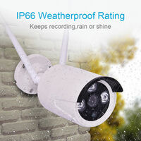 1080P CCTV Wireless Security Surveillance IR Night Camera Kit With Alertor New