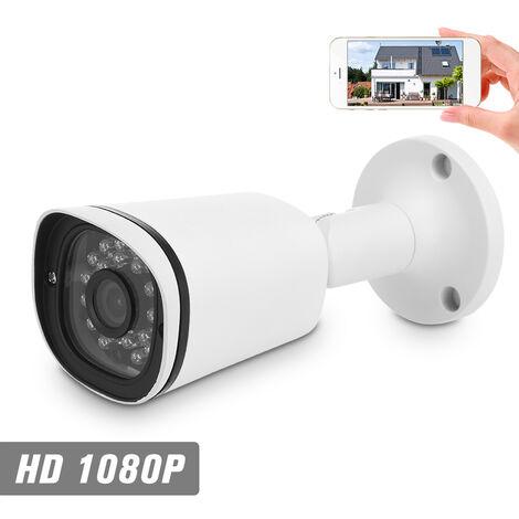 """1080P Hd Poe Ip Camera 2.0Mp 3.6Mm 1/3"""" Cmos H.265 P2P Onvif 24Pcs Ir Lampes Night View Ir-Cut Detection De Mouvement Telephone App Controle Interieur / Exterieur Securite A La Maison Etanche"""
