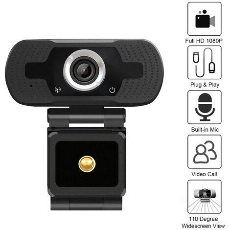 1080P HD USB webcam USB2.0 reduction du bruit sans lecteur cable microphone longueur 1,5 m (objectif de projection)