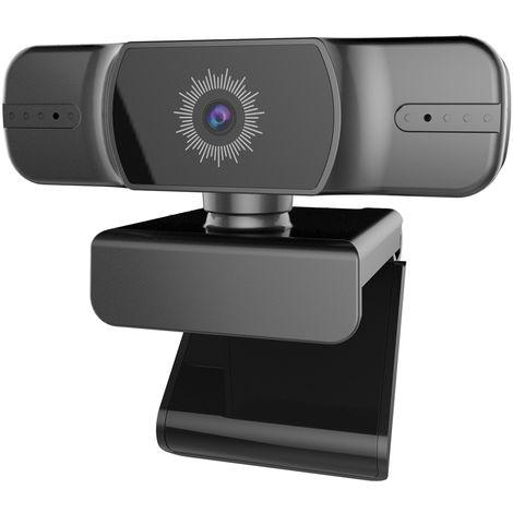 1080P Webcam Mise Au Point Automatique Camera Web Live Streaming Webcam Usb Pour Pc Portable Grand Angle Webcam Avec Microphone Double Pour Les Jeux D'Enregistrement Video Conference Office Desktop