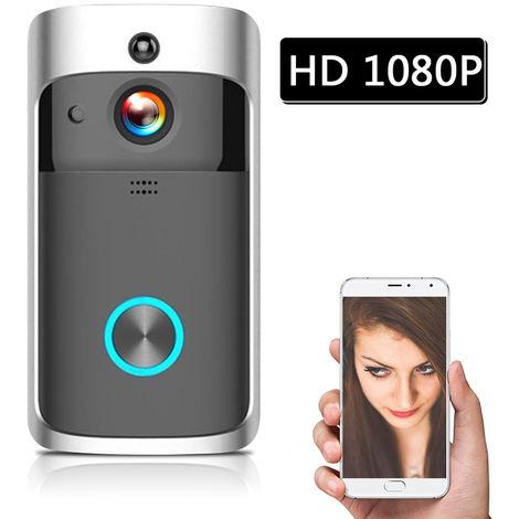 1080P WI-FI videointerfono, las camaras de seguridad inalambrica, Negro