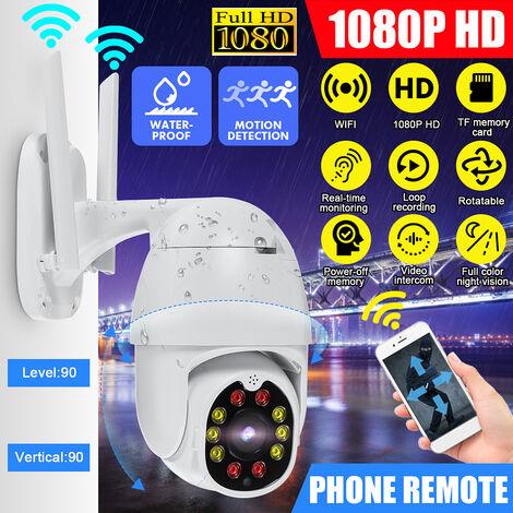 1080P WiFi Caméra de surveillance 2 mégapixels détection de mouvement 30M vision nocturne