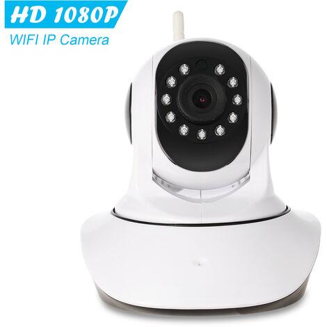 1080P WIFI Pan Tilt IP HD camara de 2,0 MP 1/3¡± CMOS de 3,6 mm Soporte de la lente PTZ audio de dos vias de la vision nocturna de telefono aplicacion de control de deteccion de movimiento con temperatura y sensor de humedad