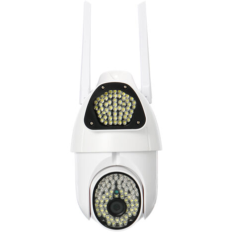 1080P Wireless Wifi IP Security Camera PIR Alarm Remote Monitor 135Pcs LED Light(1080P UK Plug)