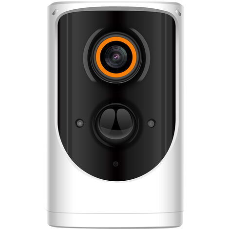 """main image of """"1080P Wireless WiFi Security Camera, Rechargeable Battery Powered Home Surveillance Camera with Night Vision, PIR Motion Detection, 2-Way Audio, IP65 Waterproof, Include Battery,model:Grey"""""""