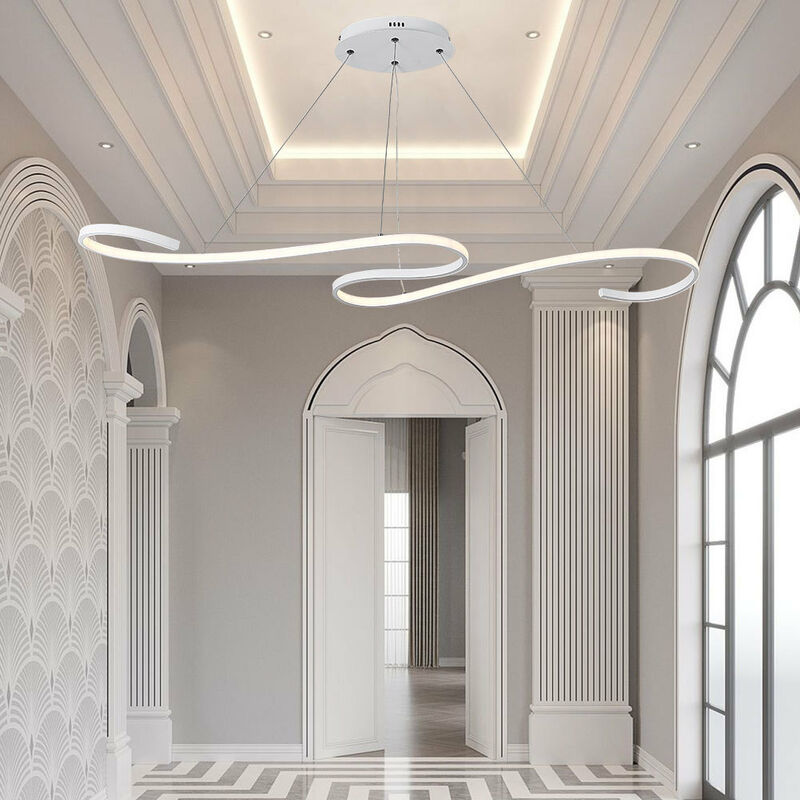Image of 108CM LED Ceiling Light Wire Pendant Lamp Chandelier Lights, Cool White