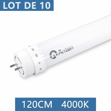 10×Anten 120CM 20W Tube LED T8 G13 Tube Fluorescent Eclairage Plafonnier LED 2000 Lumen Néon LED Blanc Neutre 4000K Starters Fournis