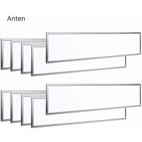 10×Anten 40W Dalle LED 120×30CM Dalle Lumineuse LED pour Plafond Blanc Chaud 2800K