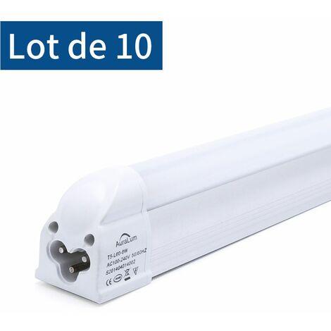 Avec Fluorescente T5 Tube Lumière 60cm De 8w 10×auralum Led SVzMpqU