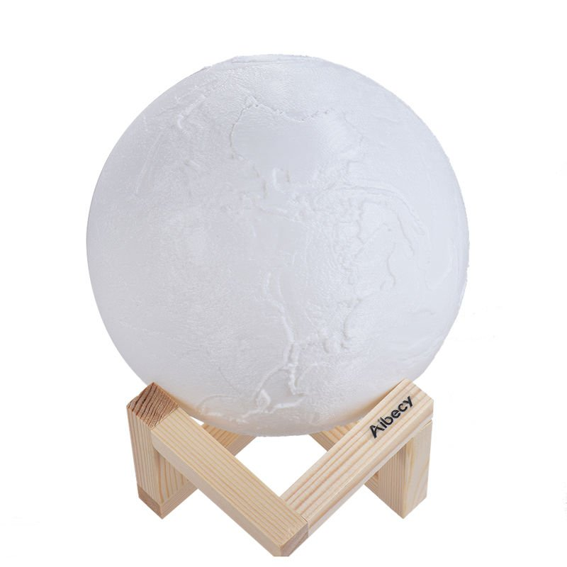 Image of 10cm/3.9in 3D Printed Earth Lamp LED Light Night Light - AIBECY