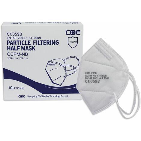 10er Set Atemschutzmasken FFP2 NR COE