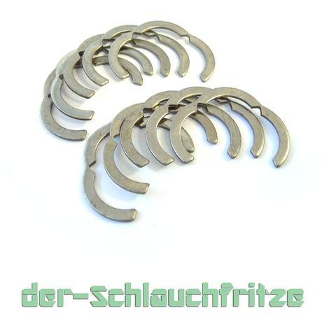 10er Set Segmentringe DN12 - DN50