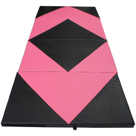 10Ft Foldable Gymnastics Mat Tumble Floor Soft Mat Yoga Exercise Fitness Gym Safety