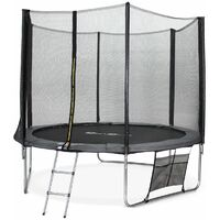 10ft Trampoline with Safety Net & Accessories Kit - 3 Colours - PRO Quality EU Standards