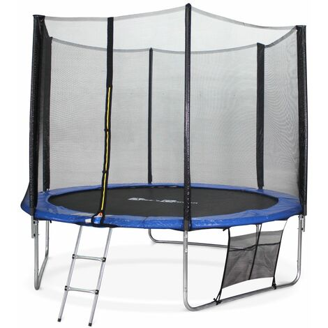 10ft Trampoline with Safety Net & Accessories Kit - Blue - PRO Quality EU Standards