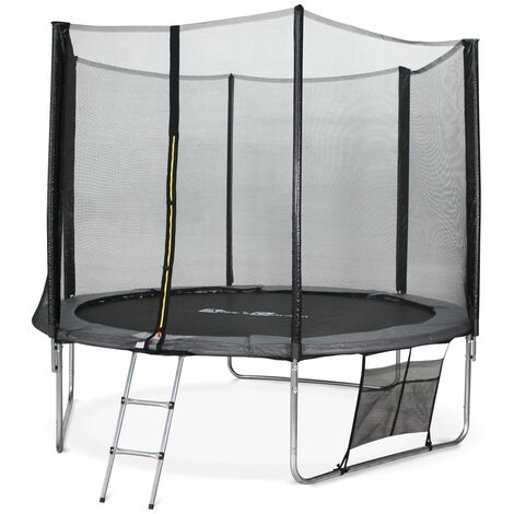 10ft Trampoline with Safety Net & Accessories Kit - Grey - PRO Quality EU Standards