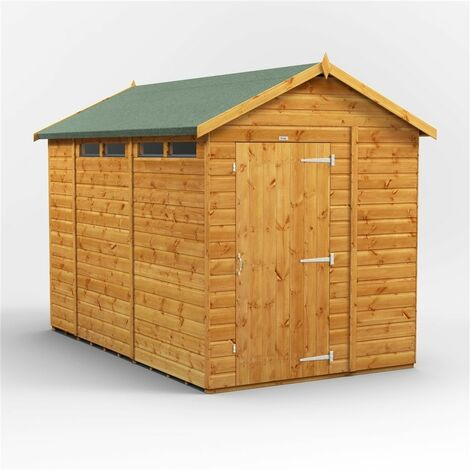 10ft x 6ft Security Tongue and Groove Apex Shed - Single Door - 4 Windows - 12mm Tongue and Groove Floor and Roof