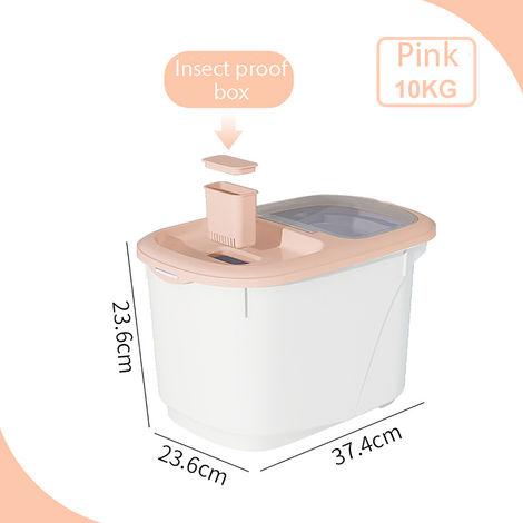 10KG Cereal Dispenser Storage Box Kitchen Food Grain Rice Plastic Container